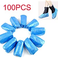 100 PCS Disposable Shoe & Boot Covers Durable & Water Resistant Indoor Carpet Floor Protection One Size Fits Most (As…