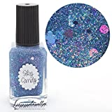 Lynnderella Blue Holographic Micro Glitter Nail Polish—Sky Candy