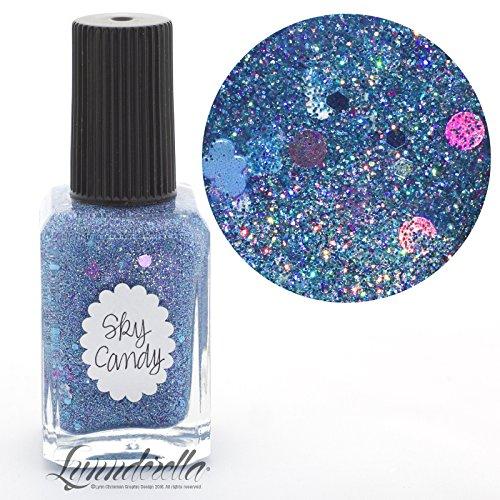 Lynnderella Blue Holographic Micro Glitter Nail Polish—Sky Candy by Lynnderella