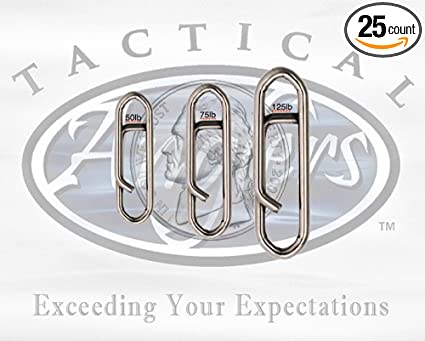 Tactical Anglers Power Clips-75lb BULK 25pc pack