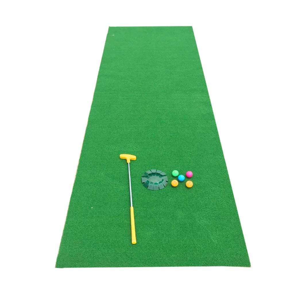ゴルフパッティンググリーン室内用屋外ゴルフトレーナー楽しいパター人工グリーンオフィス用ベルベット毛布セット (Color : Green, Size : 300*100*3cm) 300*100*3cm Green B07R4SQW4T