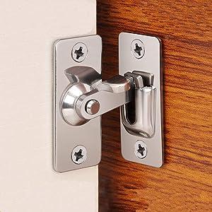Dingchi 90 Degree Door Clasp Lock Shift Door Lock Button Push Pull Button Door Latch Special Door Lock Button