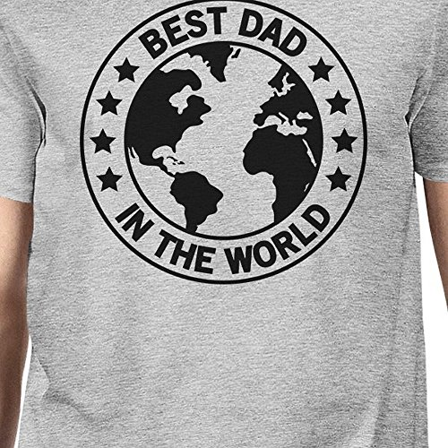 One manga para 365 hombre de Size Camiseta World Grey Dad Printing corta Best prt0nq0Xw