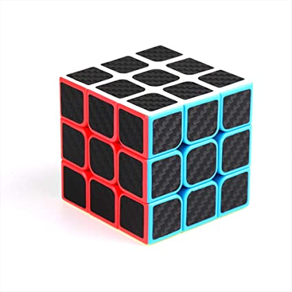 Alician 3x3x3 Smooth Operateing Carbon Fiber Magic Cube Stress Reliever Toy for Kids