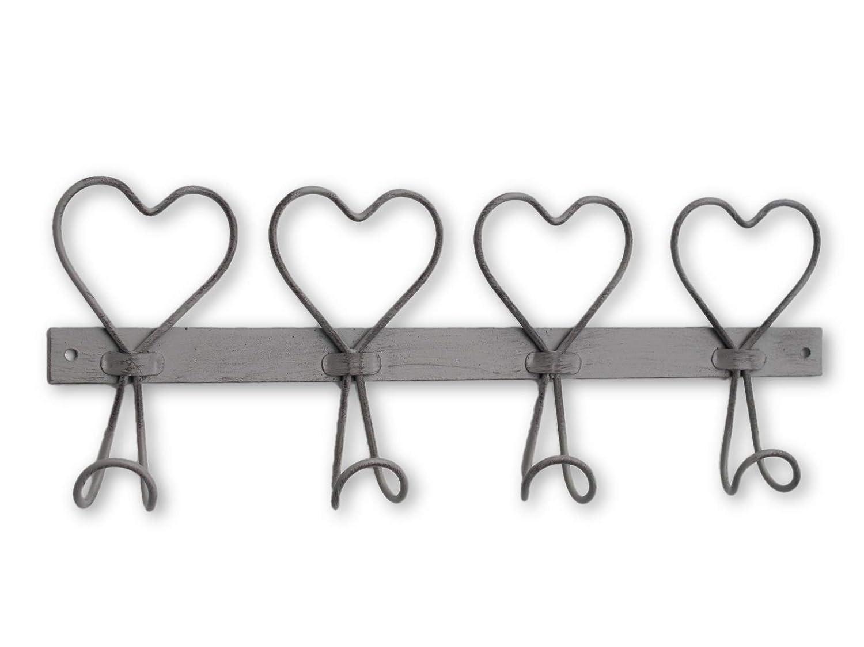 Wire 4 Heart Wall Hook Coat Hook Towel Hook