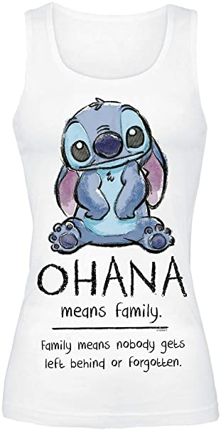Lilo & Stitch Ohana Means Family Top Mujer Blanco S