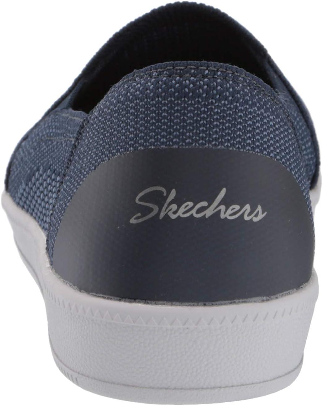 Skechers Madison Ave-Admissible, Baskets Enfiler Femme Bleu Marine