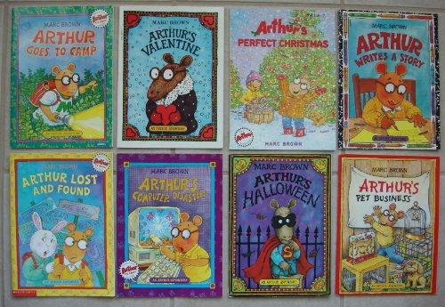 Arthur Adventure Set of 8 (Arthur's Pet Business ~ Arthur's Computer Disaster ~ Arthur Writes a Story ~ Arthur's Perfect Christmas ~ Arthur's Halloween ~ Arthur Lost and Found ~ Arthur Goes to Camp ~ Arthur's Valentine)]()