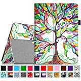 Fintie iPad Air 2 Case [Corner Protection] - Slim Fit Leather Folio Case with Smart Cover Auto Sleep / Wake Feature for Apple iPad Air 2 (iPad 6) 2014 Model, Love Tree