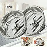 Sept.Filles 2PCS Stainless-Steel Kitchen Sink Strainer Basket With Handle - Large Rim 3.4 Inch