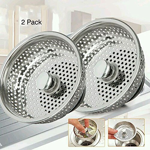 Sept.Filles 2PCS Stainless-Steel Kitchen Sink Strainer Basket With Handle - Large Rim 3.4 Inch by Sept.Filles