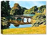 Stourhead Garden in England -Outdoor Wall Art - Weatherprint - Weatherproof Art for Indoor or Outdoor Canvas Art