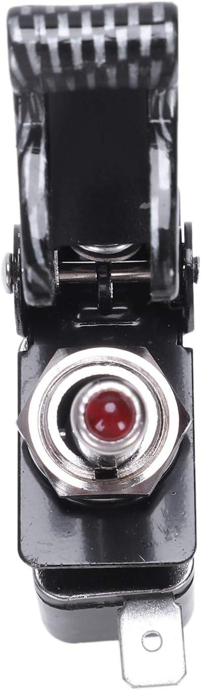 Bestlymood 12V 2pines Palanca del Interruptor basculante del Tablero del Coche SPST ON//Off Carbon AERONAVE Rojo