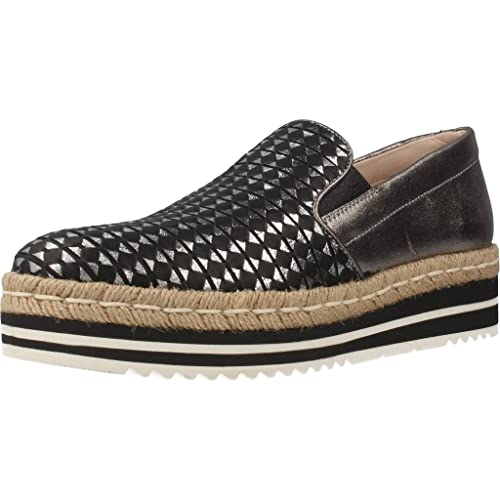 Mocasines para Mujer, Color Plateado, Marca PONS QUINTANA, Modelo Mocasines para Mujer PONS QUINTANA 70703 Plateado: Amazon.es: Zapatos y complementos