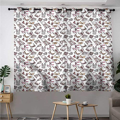 """Fbdace Girls Curtains for Bedroom Lingerie Pieces Feminine Glam Space Decorations Simple Stylish W 55"""" XL 72"""""""
