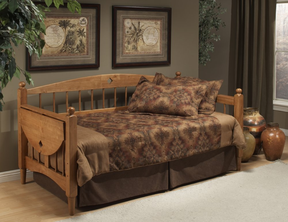Amazon Hillsdale Dalton Daybed In Medium Oak Finish With Suspension Deck Kitchen Dining