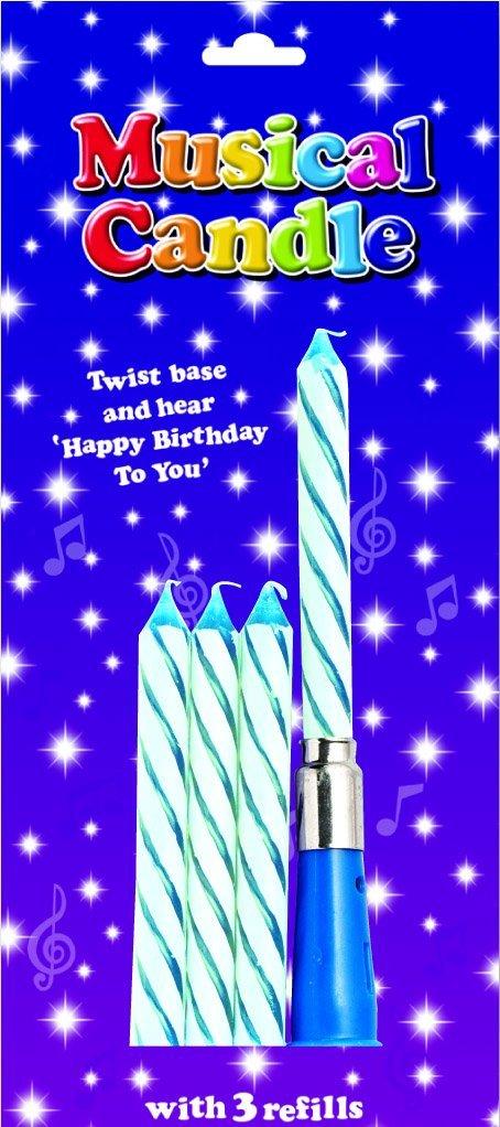 CREATIVE Velas de cumpleaños Musicales, Color Azul: Amazon ...