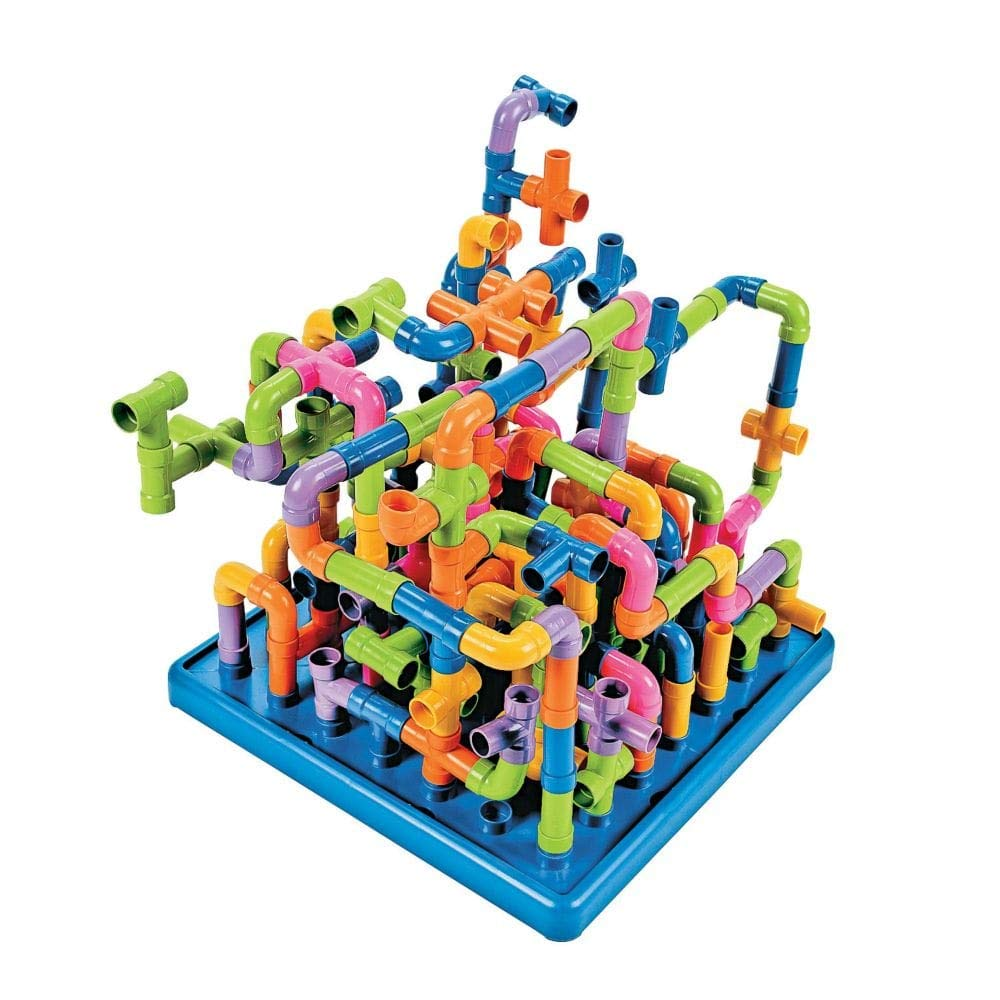200 Pcs. Per Unit Plastic Fun Express 60//3021 Jumbo Pipe Connectors