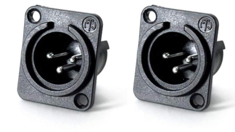 25 Pack Neutrik NC3MPP Male 3-Pin XLR Panel Non-Latching Silver Contacts