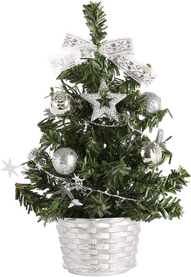 20cm, X-blue FNKDOR Artificial Tabletop Mini Christmas Tree Decorations Festival Miniature Tree 20cm