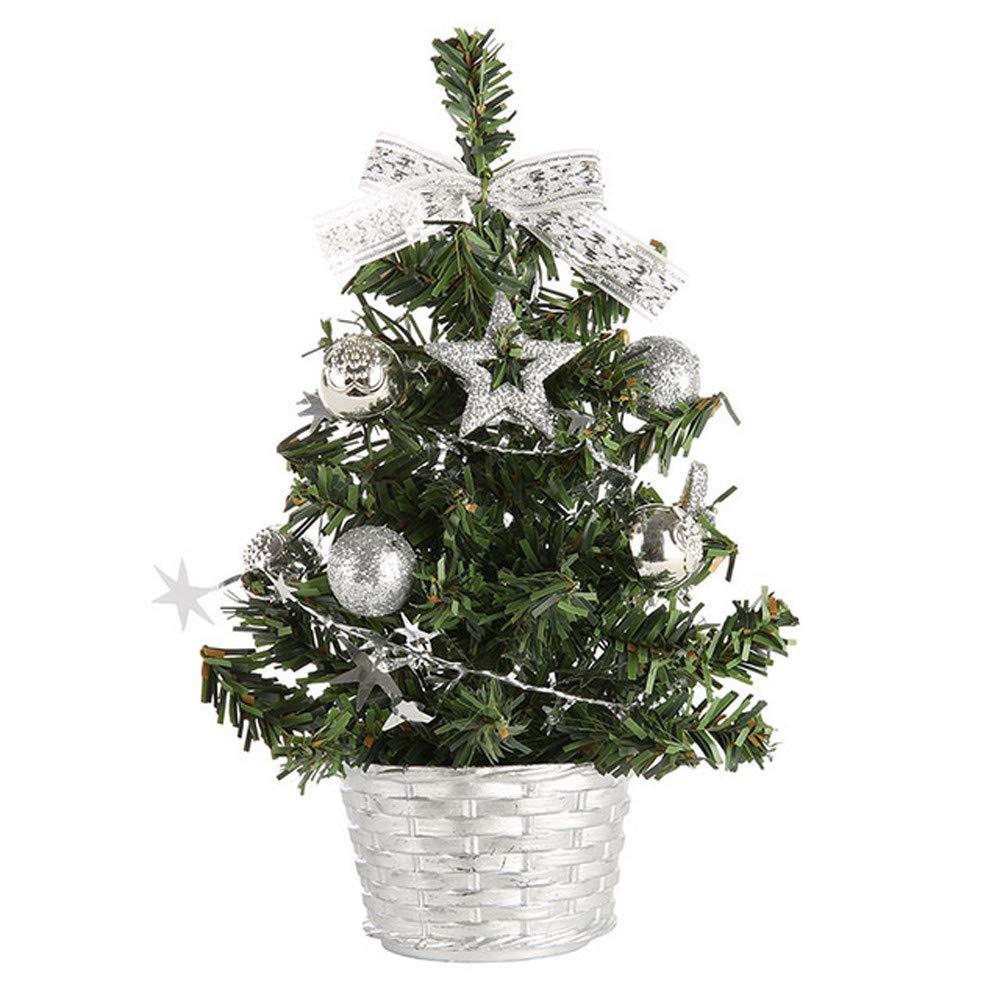 20cm tabletop artificial christmas tree decorations festival mini pine tree wmulticolored ball five star