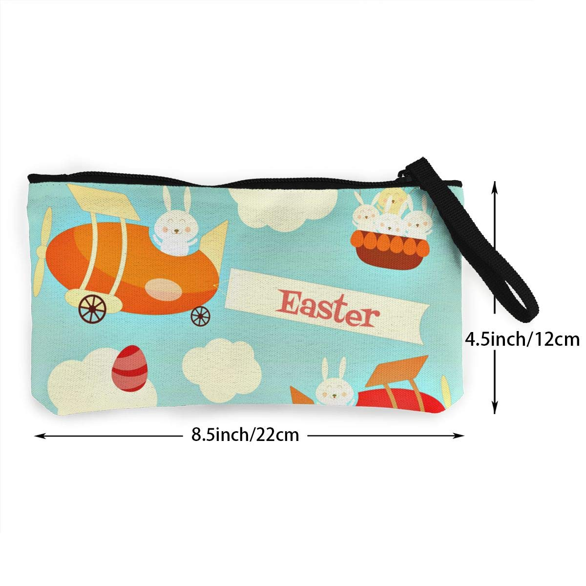 Maple Memories Easter Eggs Bunny Portable Canvas Coin Purse Change Purse Pouch Mini Wallet Gifts For Women Girls