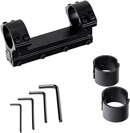 "NcStar RAH24 30mm Adjustable Height Scope Ring W//1/"" Insert"