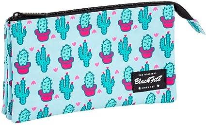 Blackfit8 841943744 Cactus Estuche portatodo triple escolar, TU: Amazon.es: Oficina y papelería