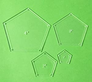 Pentagon Arylic Template Set DIY Patchwork Template 4