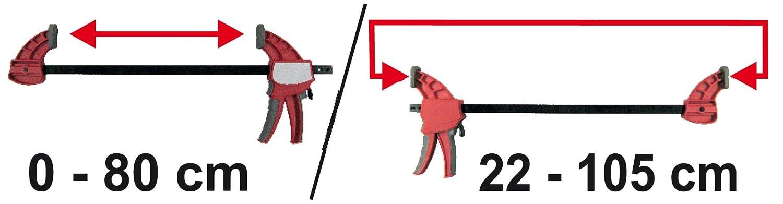 Connex COX864780 Serre-joints et /écarte-joints 90 mm 0-800 mm 220-1050