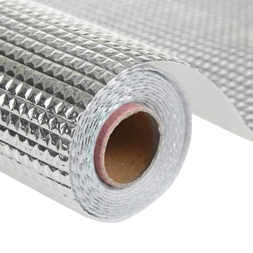 Hottong- Tapis de protection pour tiroir/placard/étagère/réfrigérateur en aluminium plaqué - Anti-encrassement et antibactérien