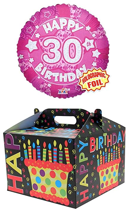 Cards Galore Online Round 18 30th Birthday Foil Helium Balloon In Box