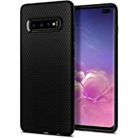 Spigen Liquid Air Galaxy S10+ Plus Case Cover with Slim Enhanced Grip and Shockproof Protection Designed for Samsung Galaxy S10 Plus (2019) - Matte Black