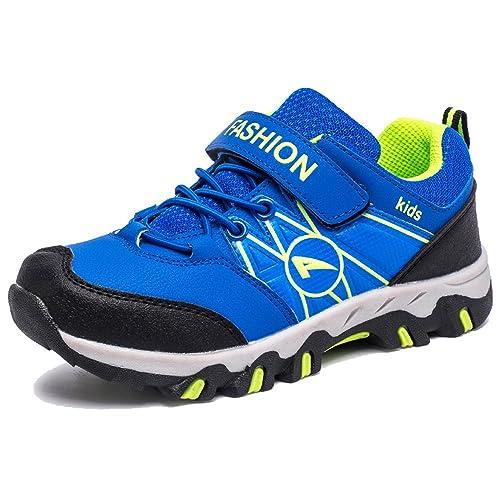 KAMIXIN Zapatillas de Senderismo Niño Low Rise Outdoor Zapatos de Senderismo Zapatillas de Trekking Niña Botas