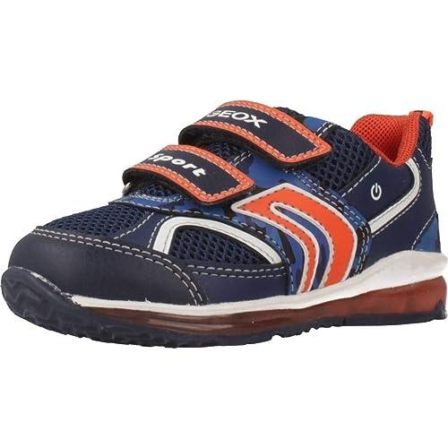 Geox B Todo Boy A, Zapatillas Bebé-para Niños, Azul (Navy/Orange C0820), 22 EU: Amazon.es: Zapatos y complementos