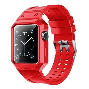 Correa iWatch Repuesto para Reloj Inteligente Apple Watch Serie 3 Serie 2 Serie 1 Rojo 38mm: Amazon.es: Informática