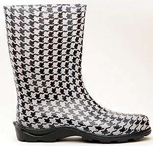Sloggers 5005HT08 Size 8 Houndstooth Women's Waterproof Rain Boots