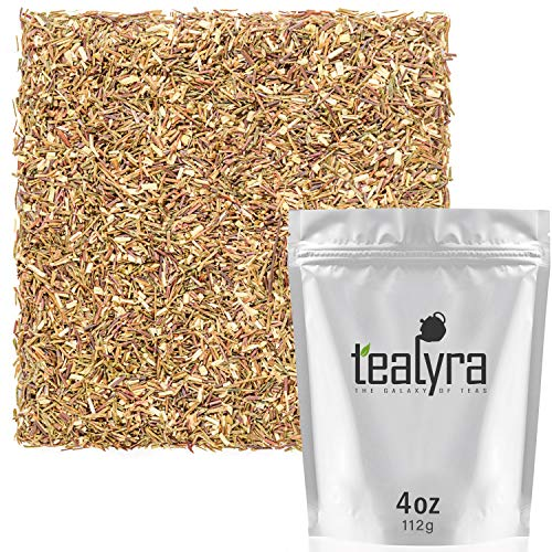 Tealyra - Green Rooibos - Pure Herbal Loose Leaf Tea - Antioxidants Rich - Relaxing Tea - Caffeine-Free - Organically Grown - 112g (4-ounce)