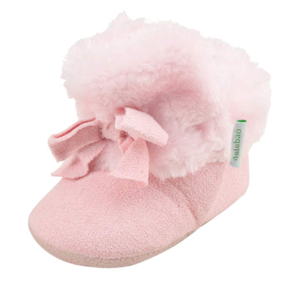 Neugeborenen Baby Winter Schuhe, Sunday Sä ugling Mä dchen Wanderschuhe Baumwolle Schneestiefel Warm Krippeschuhe Krabbelschuhe Weiche Sohle Flache Stiefel