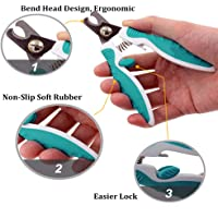 Stainless Steel Guillotine Claw Nail Clippers For Dogs Grooming Cutter Trimmer(M)