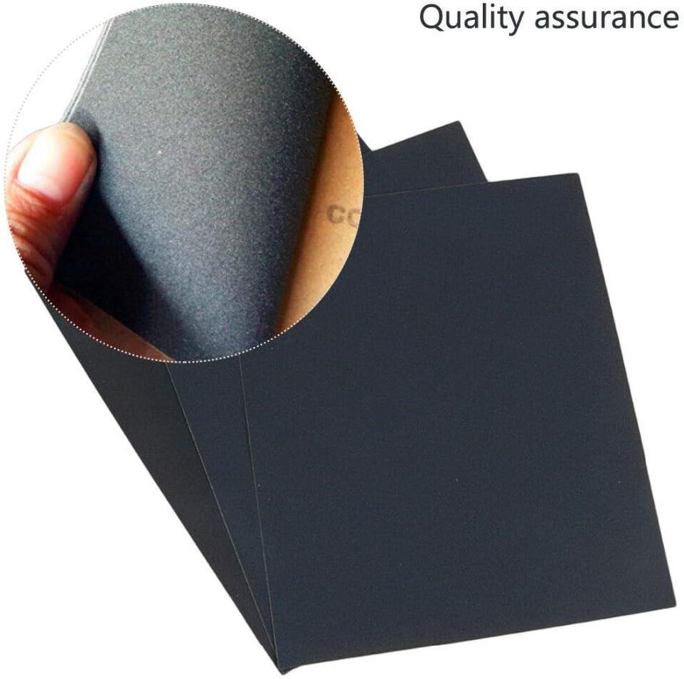 Lot de 2 noir BE-TOOL Lot de 20 feuilles de papier abrasif /étanches pour lisser et polir les carrosseries automatiques
