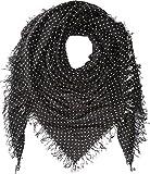 Chan Luu Women's Cashmere & Silk Polka Dot Scarf Black One Size