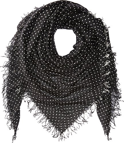 - Chan Luu Women's Cashmere & Silk Polka Dot Scarf Black One Size