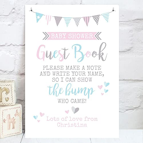 Personalised Baby Shower Guest Book Table Sign (BS5)