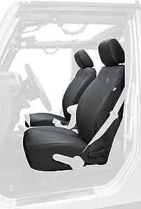 Bestop 2928335 Black Diamond Front Seat Covers for 2013-2018 Wrangler JK 2-door/4-door