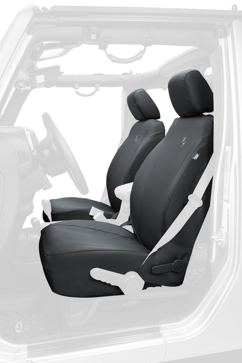 Bestop 29283-35 Black Diamond Front Seat Cover for 2013-2018 Jeep Wrangler 2DR and Unlimited