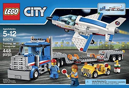 (City Space Port LEGO 448 PCS Training Jet Transporter Box Building Toys)
