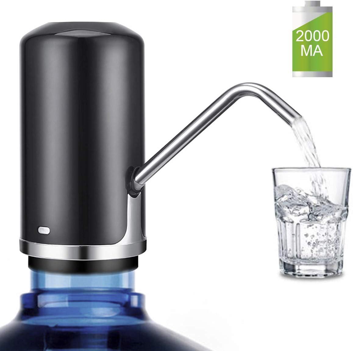 Water Bottle Pump KOMAKE 5 Gallon Water Pump Dispenser USB Charging Electric Drinking Water Dispenser Portable Water Bottle Dispenser Switch for 2-5 Gallon