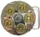 bullet for real guns - New Gun Bullet Round Spinning Spinner Enamel Belt Buckle also Stock in US