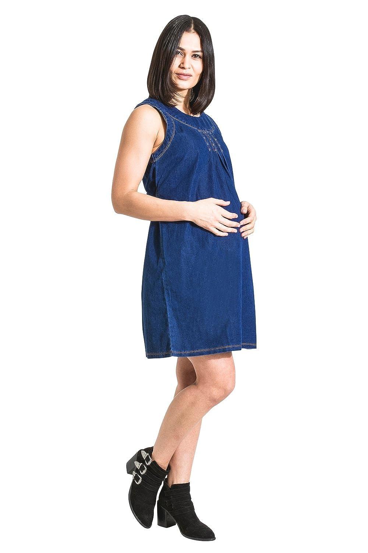 My Christy Vestido de Maternidad Vestido de Mezclilla Ropa de Embarazo Tina: Amazon.es: Ropa y accesorios